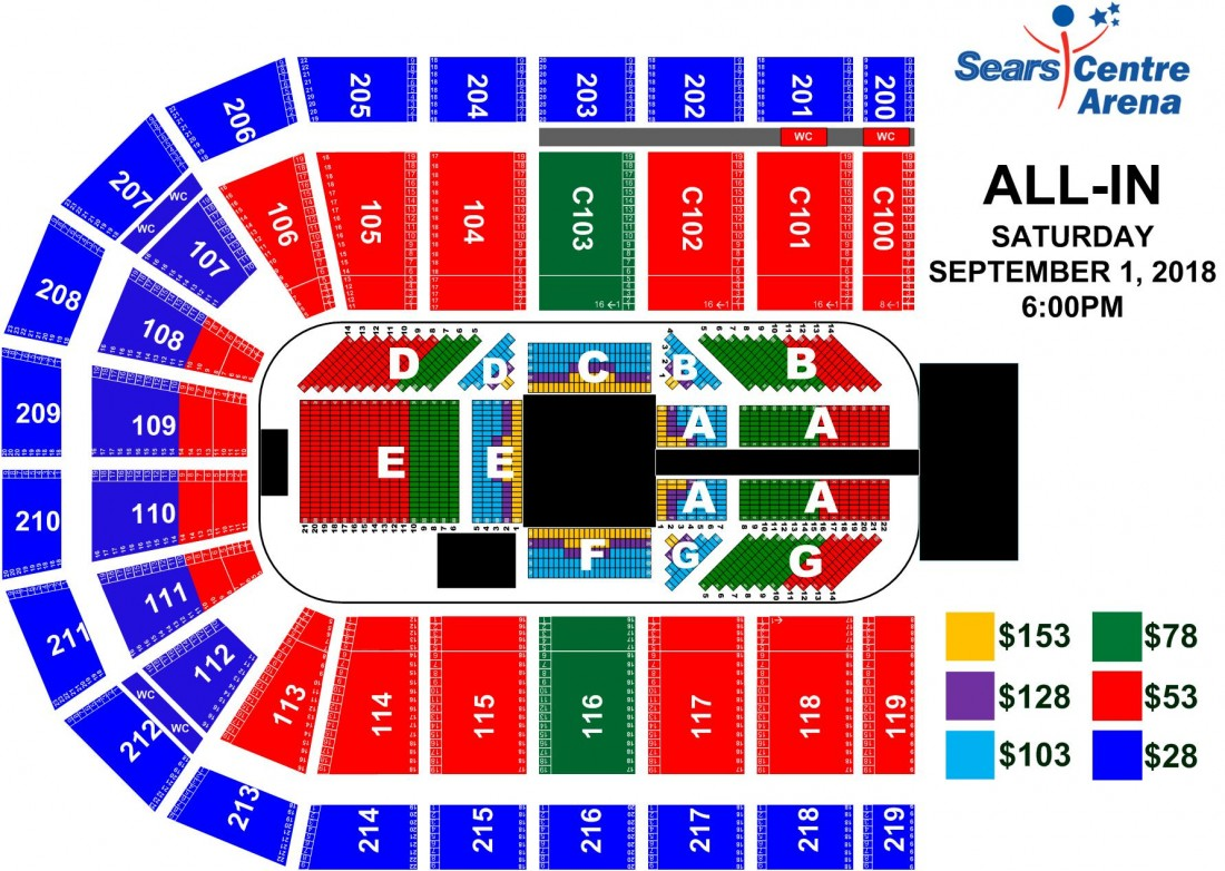 Events all in 2018 sears centre arena
